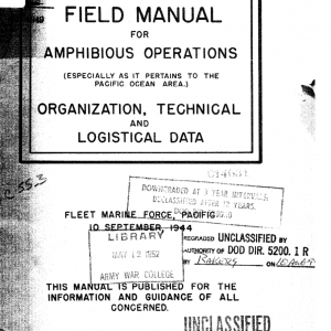 Staff Officers' Field Manual for Amphibious Operations 1944